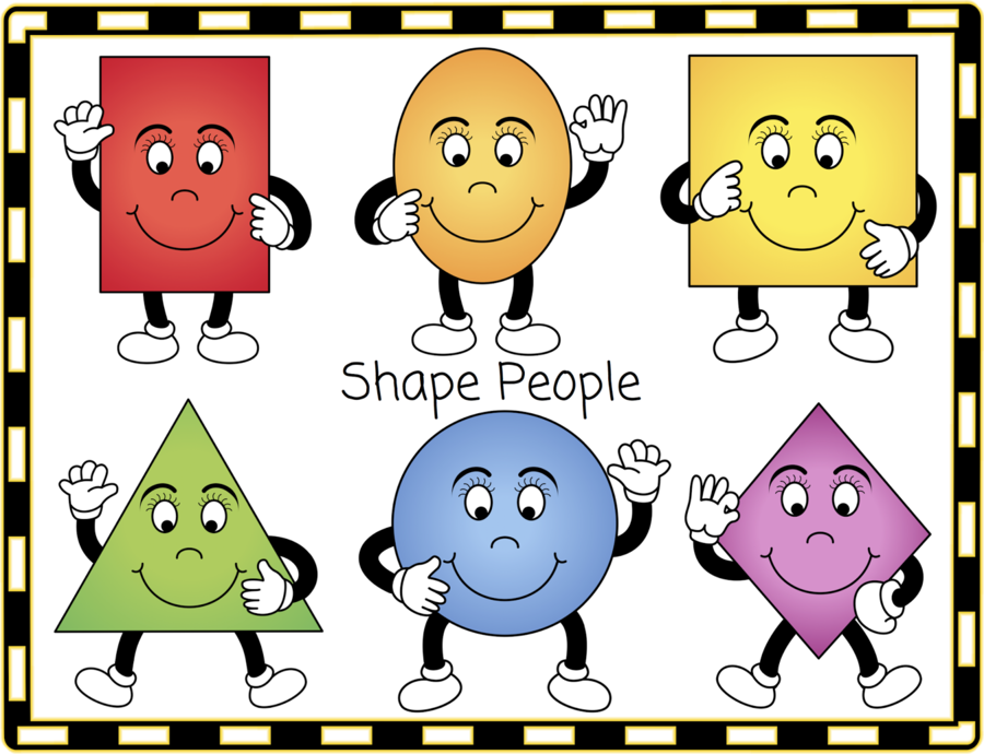 Square clipart shape person. Geometric background circle