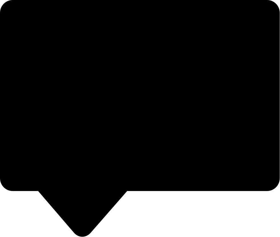 Black rectangular shape svg. Square clipart speech bubble