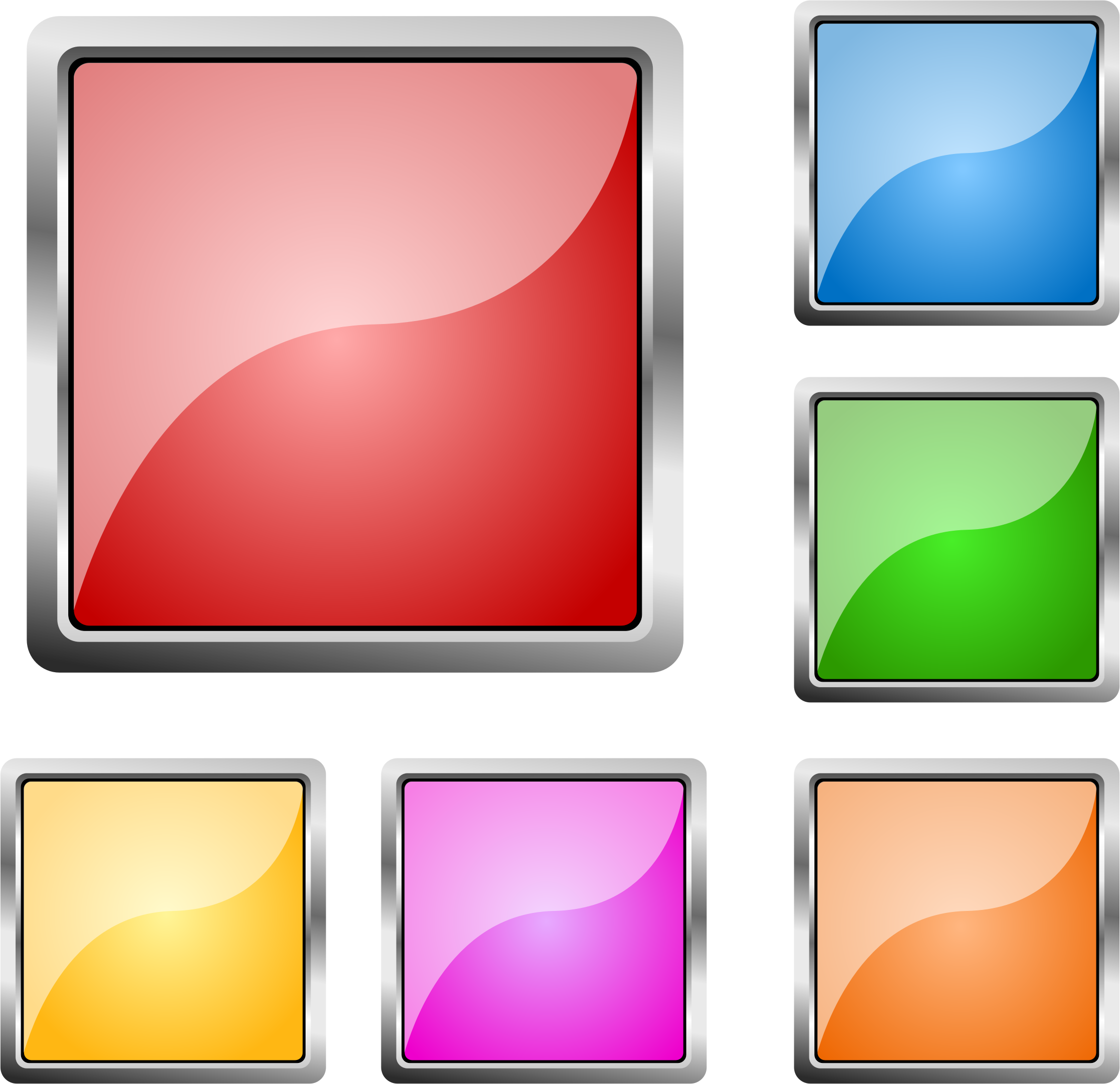 Square clipart sqaure. Steel buttons big image