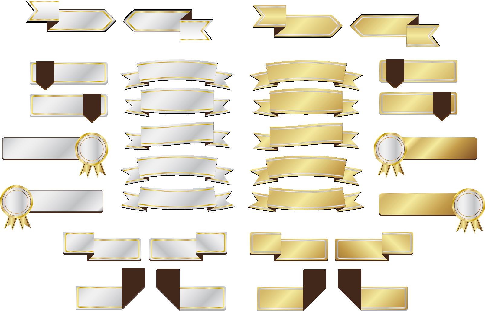 Ribbon clip art gold. Square clipart square banner