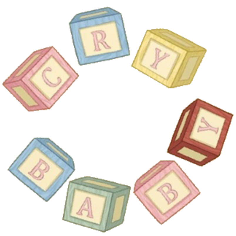 Square clipart square block. Cry baby blocks by