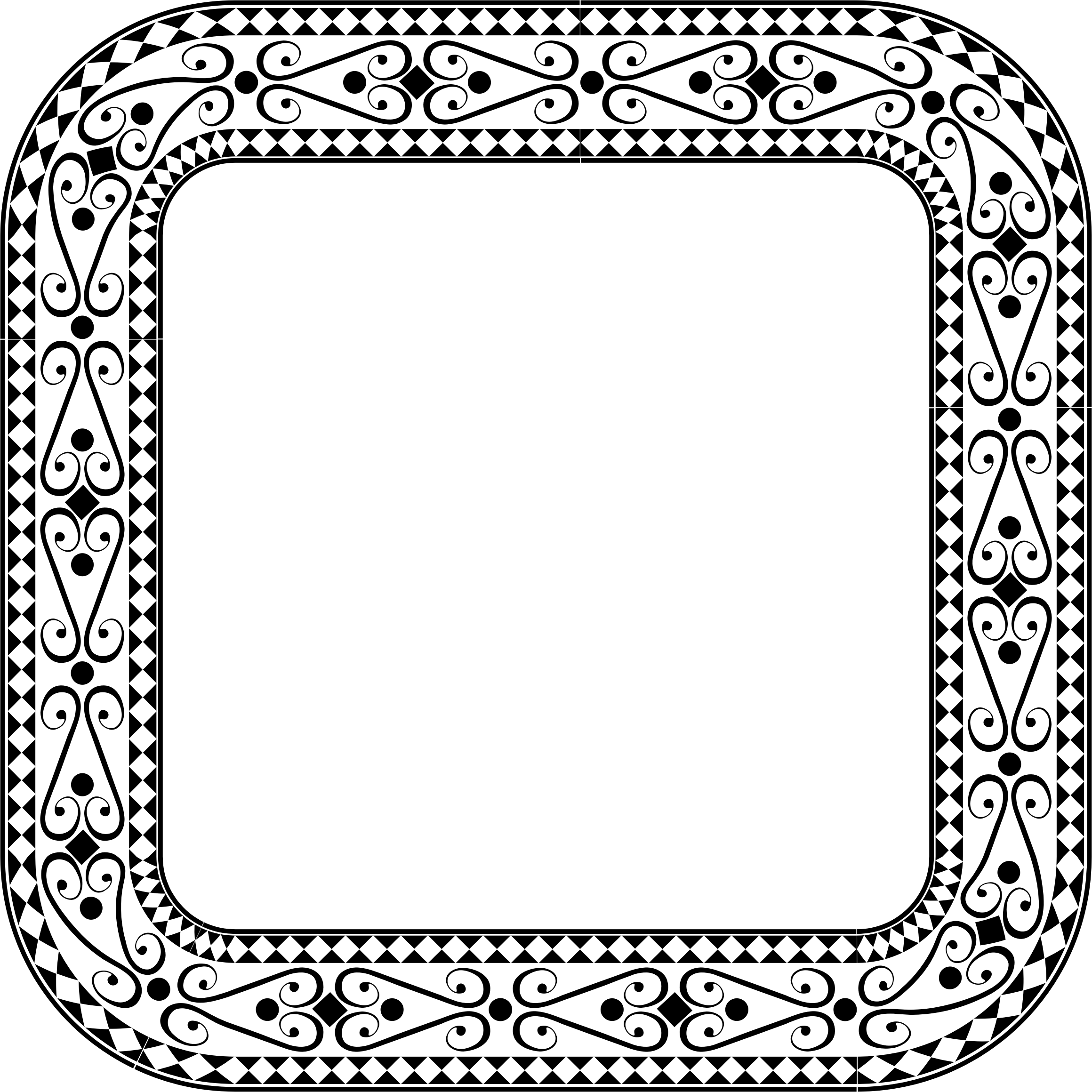 Square clipart square frame. Decorative ornamental big image
