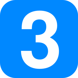 Square clipart square number. In light blue rounded
