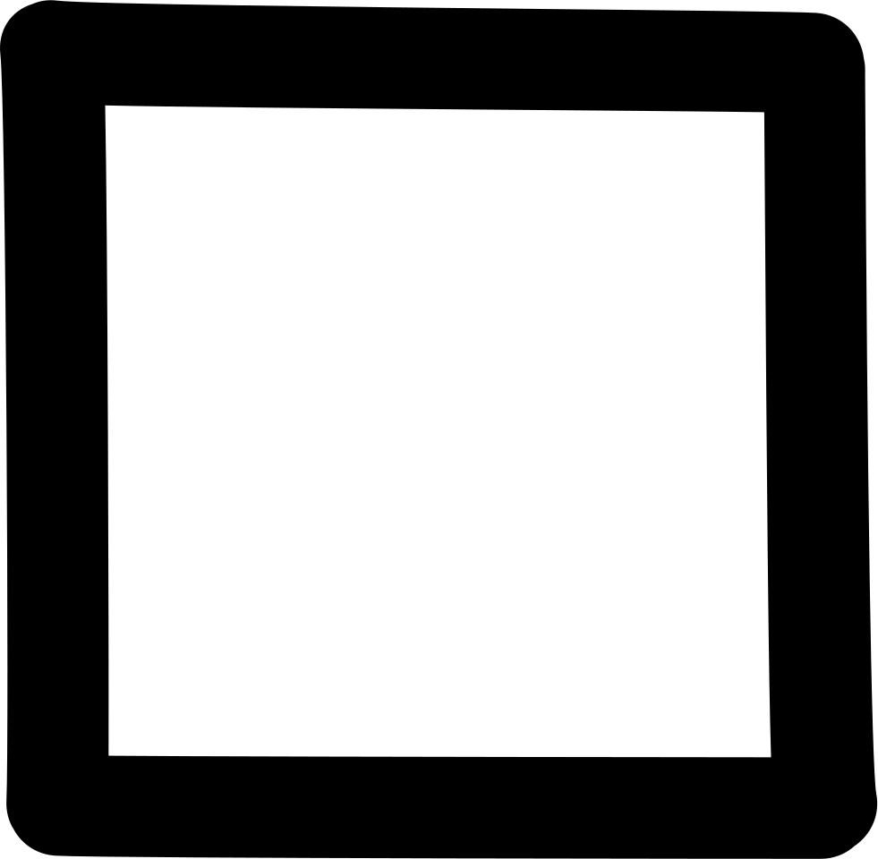 Square clipart square shaped. Hand drawn shape outline