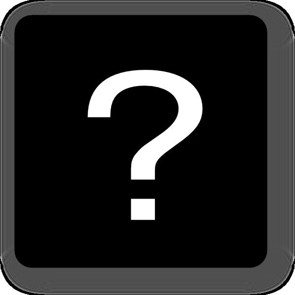 Square clipart vector black. Question mark icon clip