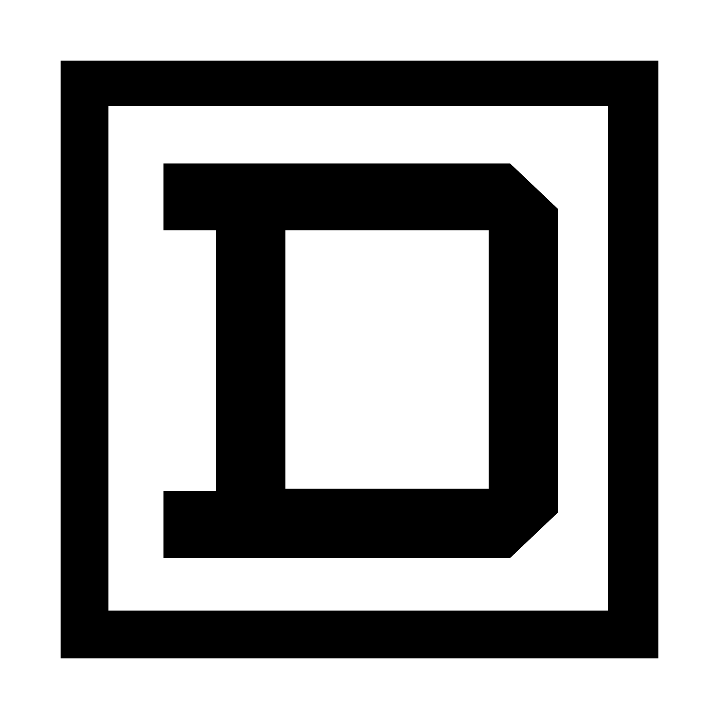 Square clipart vector black. D logo png transparent