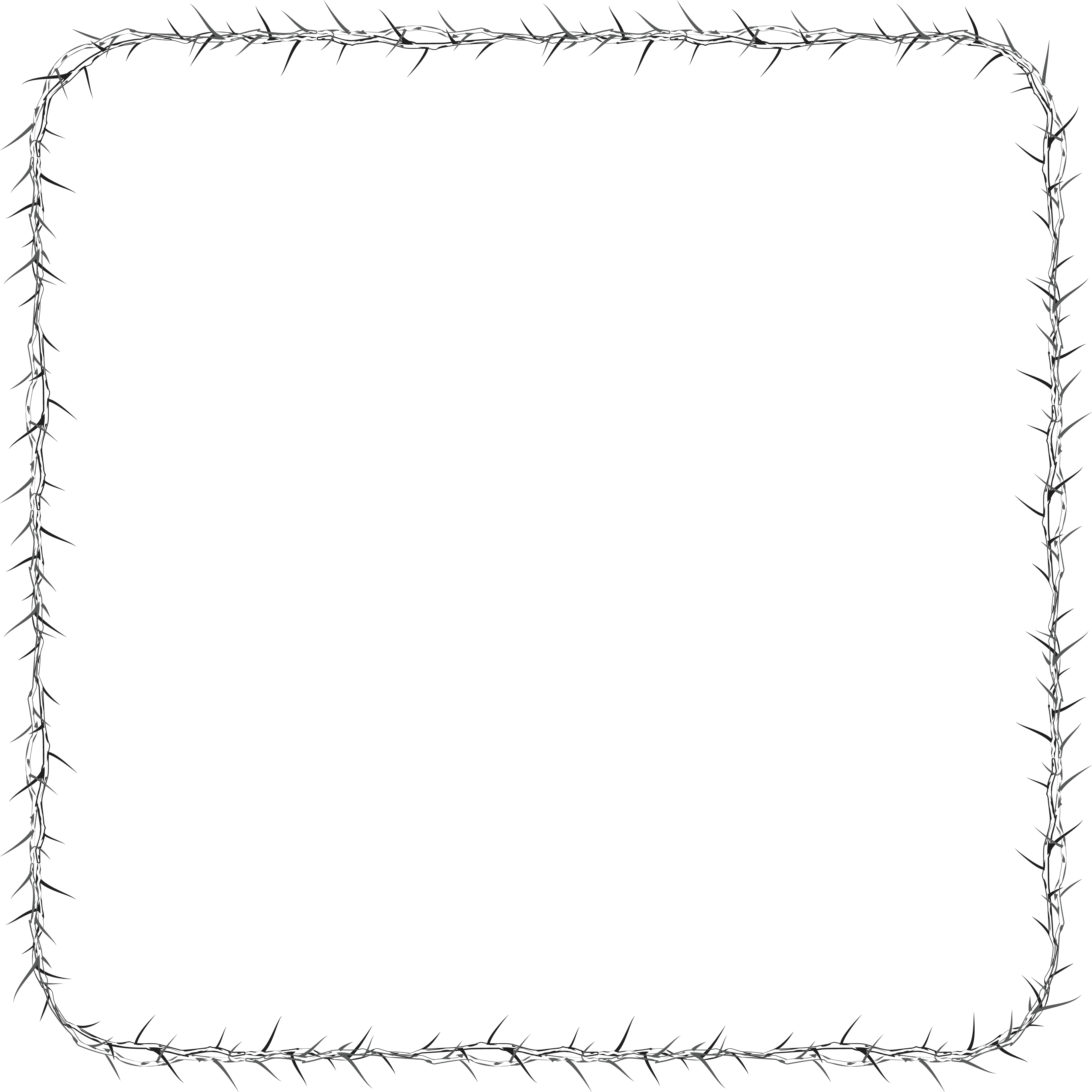 Square clipart whit.  collection of thorn