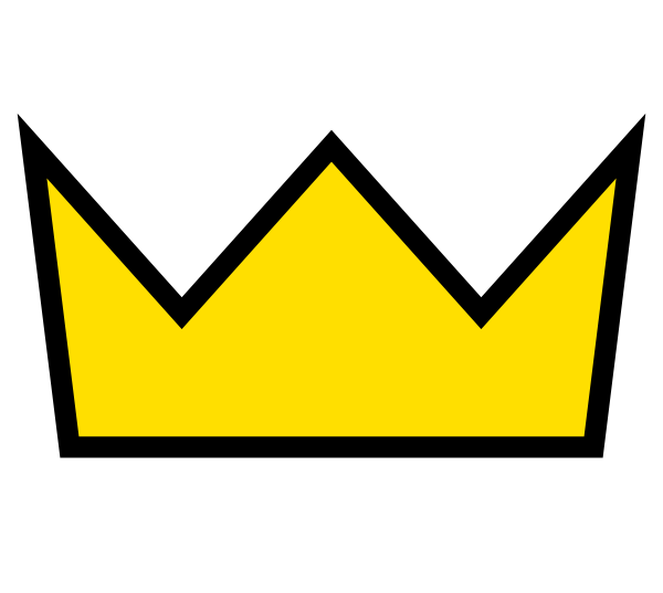 Yellow gold crown clip. Square clipart yello
