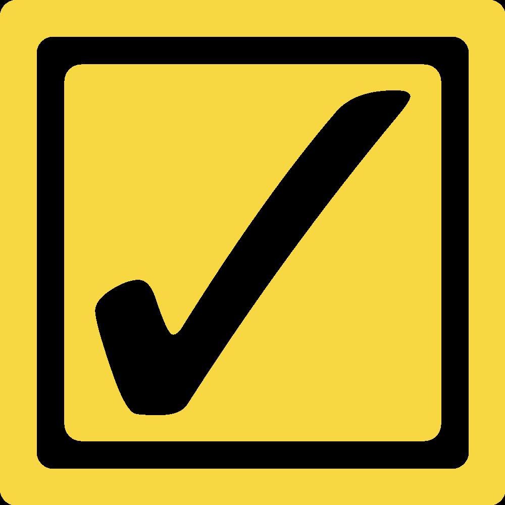 File checkbox checked svg. Square clipart yellow square