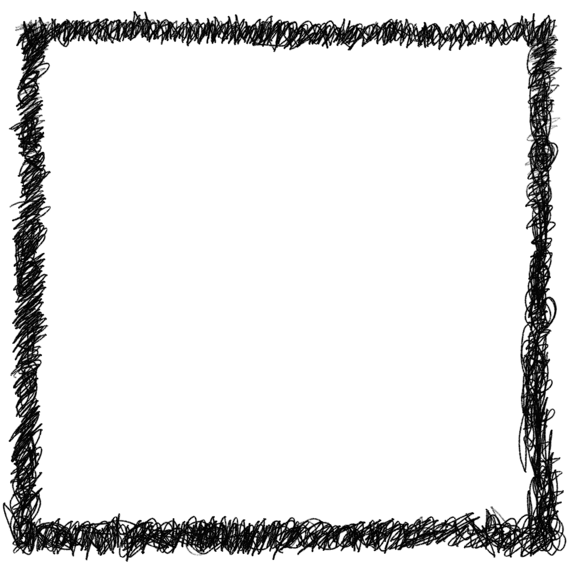 Square frame png.  scribble transparent onlygfx