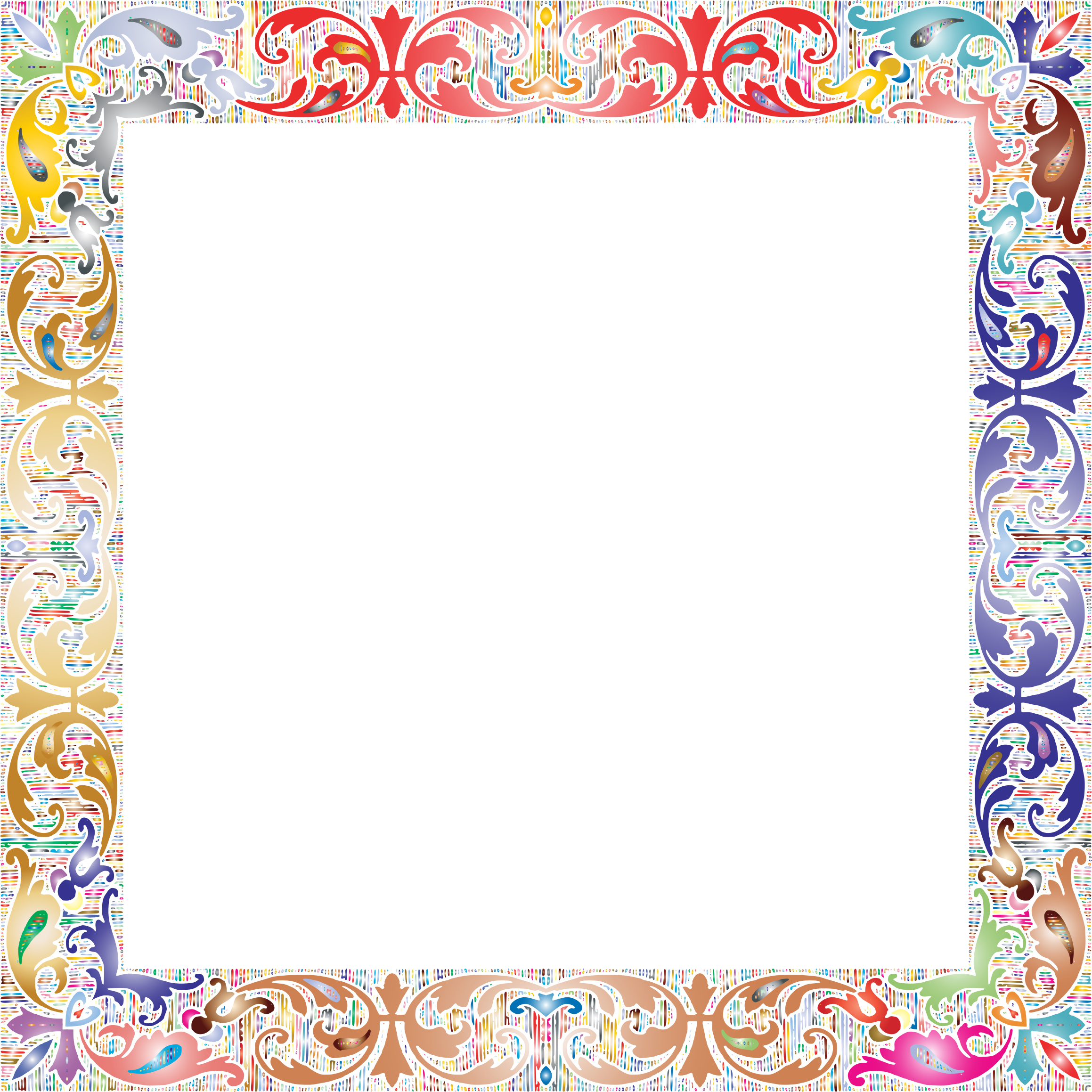 Square picture frame png. Fancy vintage prismatic no