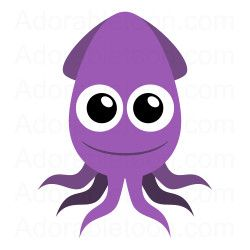 Squid clipart. Cute from adorabletoon com