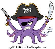 Vector illustration eps . Squid clipart cartoon evil