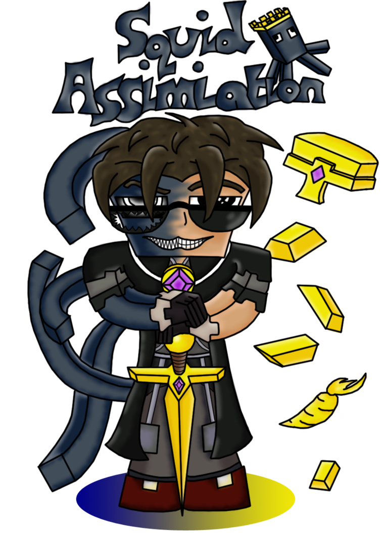 Squid clipart cooked. Skydoesminecraft assimilation by lord
