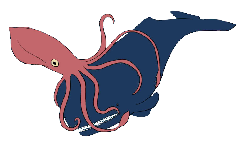 Squid clipart deep sea creature. Ocean m