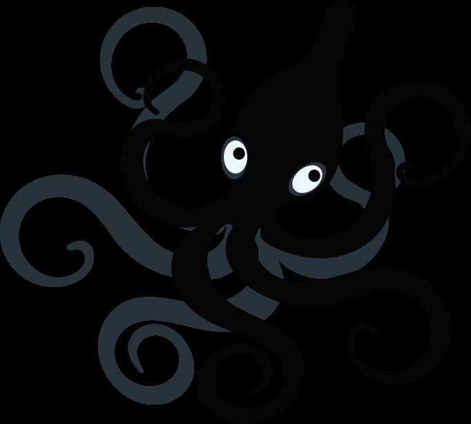 Squid clipart octopus. Circles