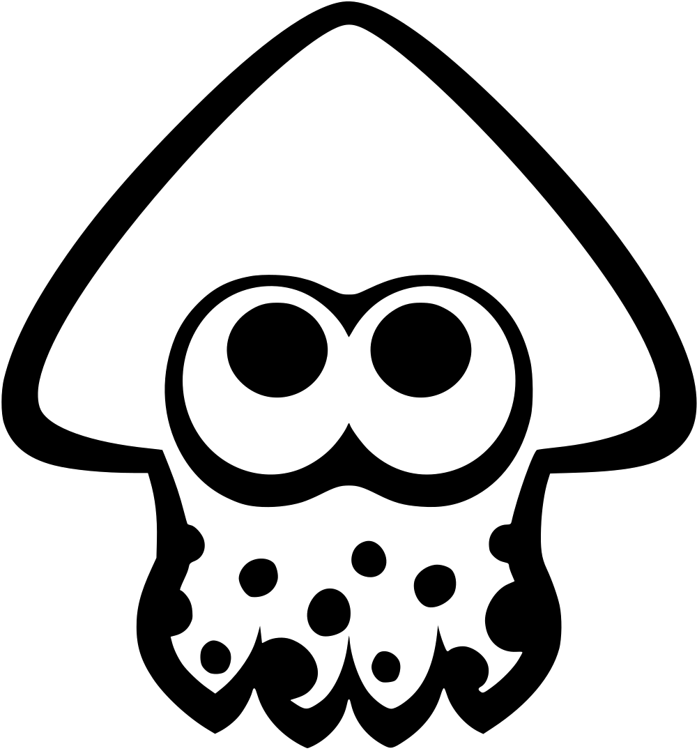 Squid clipart simple. File icon splatoon svg
