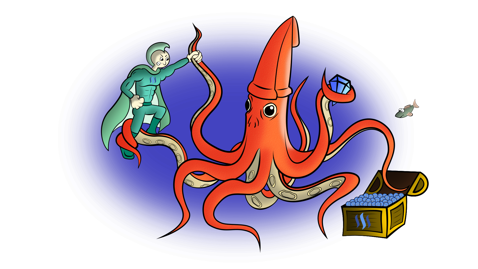 Drawing with steemit squid. Inkscape png to vector