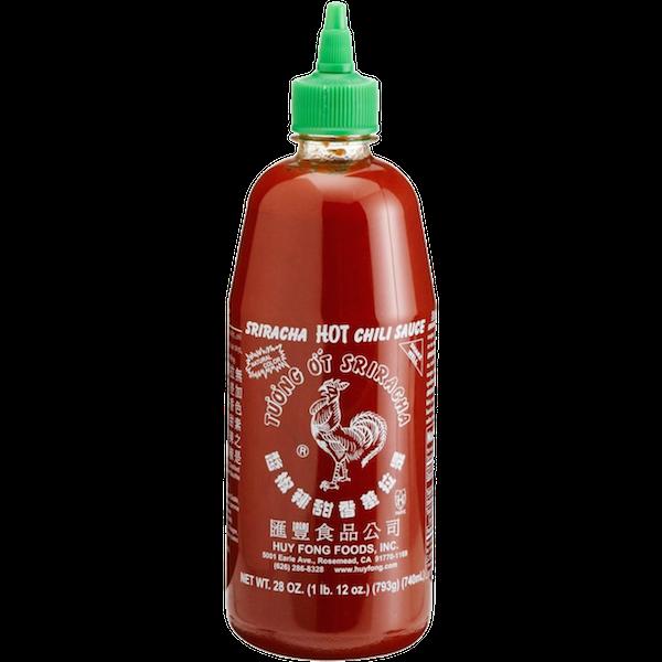 Huy fong hot chilli. Sriracha bottle png