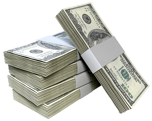 . Stack of money png