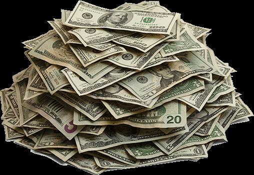 Pile cash transparent stickpng. Stack of money png
