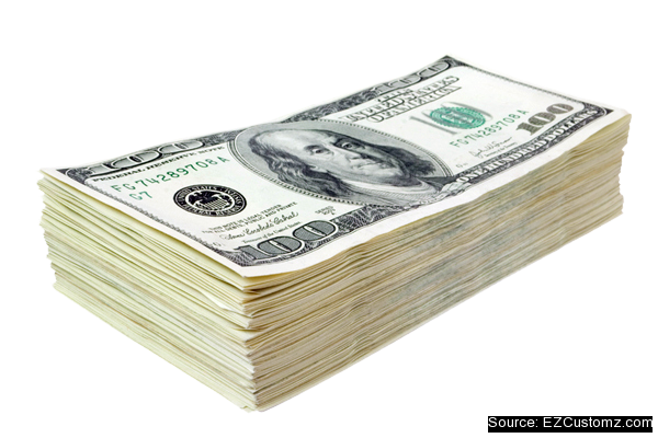 cash for free. Stack of money png