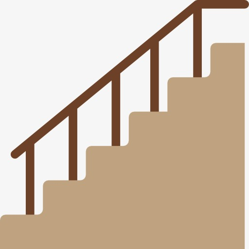Staircase clipart. A gray stairs armrest