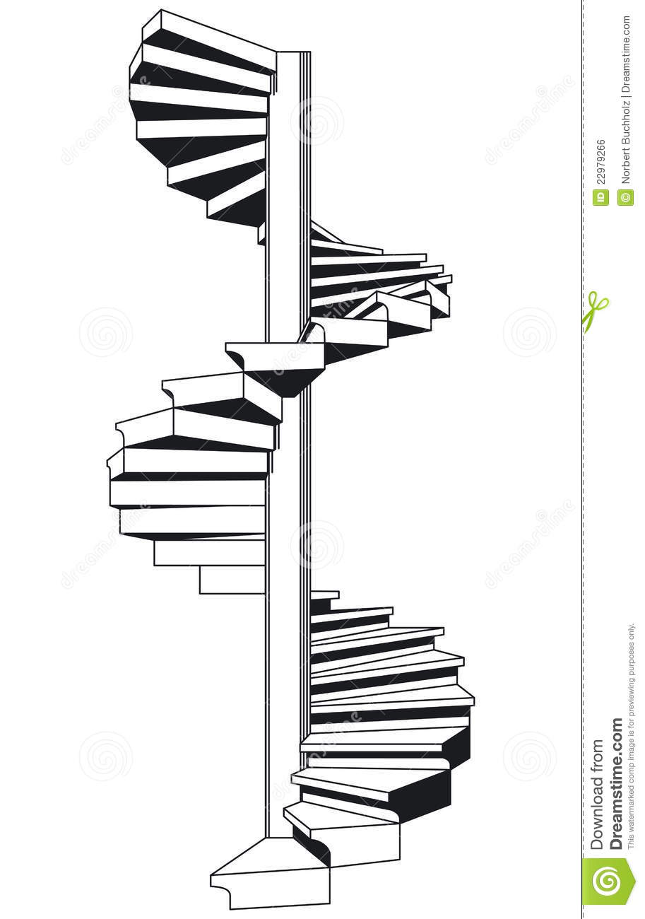 Staircase clipart. Spiral