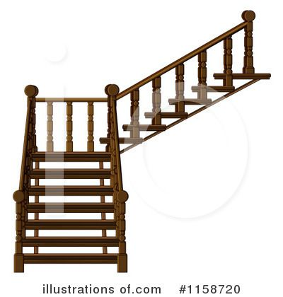 Stairs clip art pinned. Staircase clipart