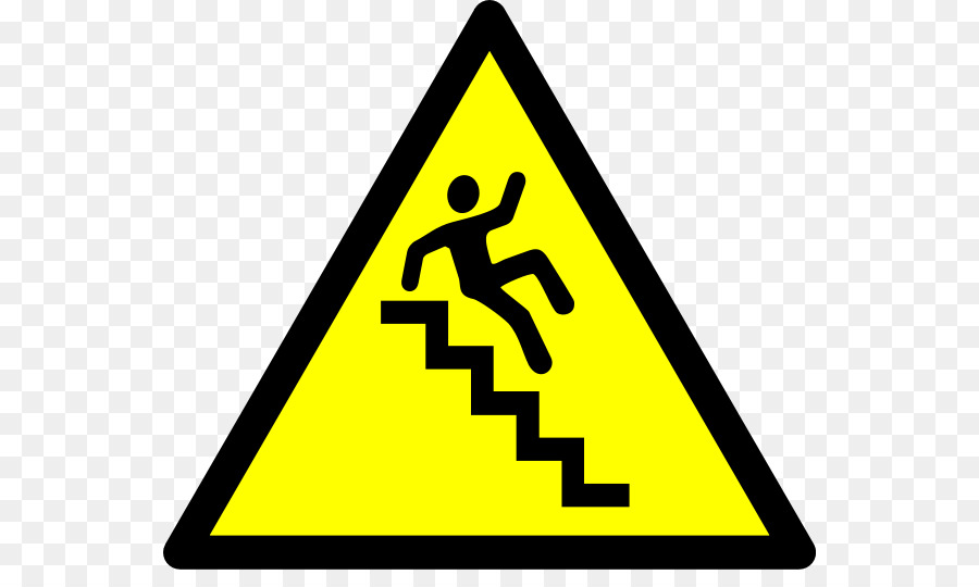 Staircase clipart. Warning sign stairs clip