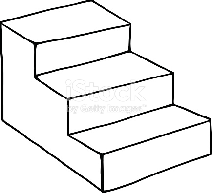 Staircase clipart 3 step. Stair free download best