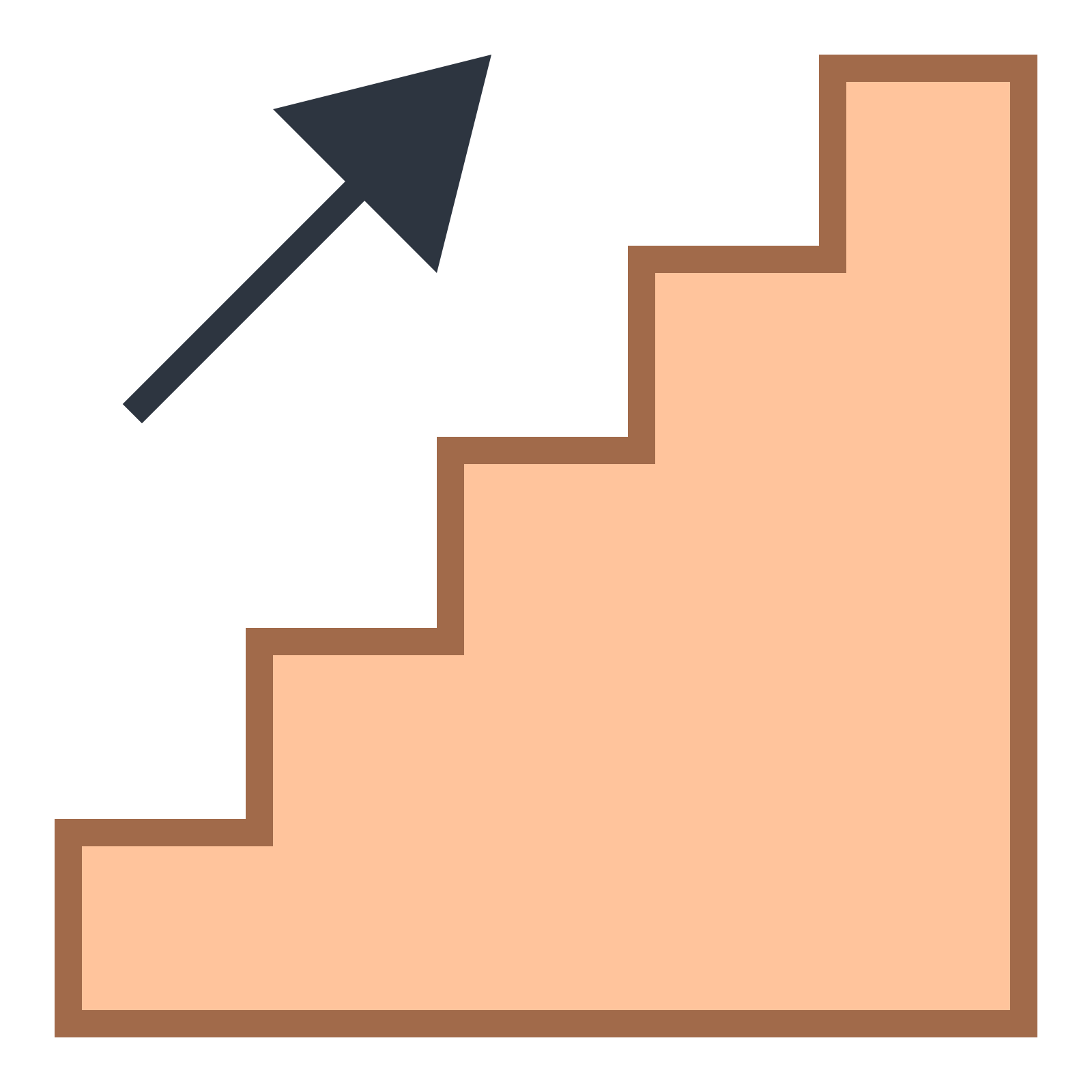 Icon illustration symbol design. Staircase clipart basement stair