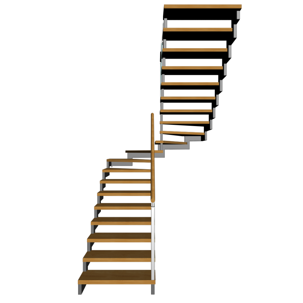 Half landing stairs design. Staircase clipart basement stair