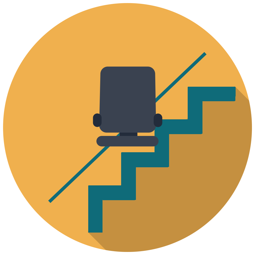 Mobility and disability stairlifts. Staircase clipart broken