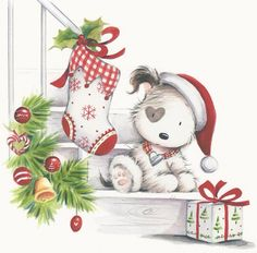Staircase clipart christmas.  best dog images
