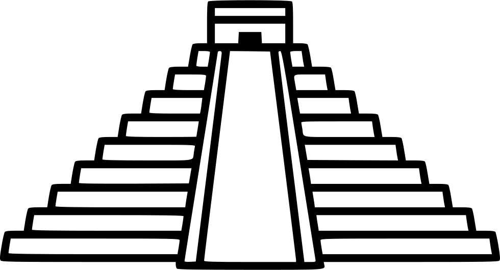 Chichen itza ol svg. Staircase clipart employee promotion