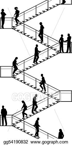 Staircase clipart flight stair. Vector stock stairway clip