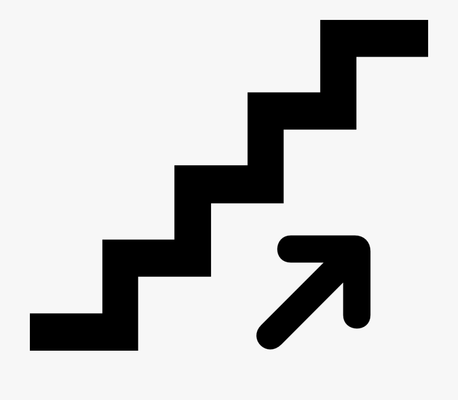 Stair black and white. Up clipart staircase