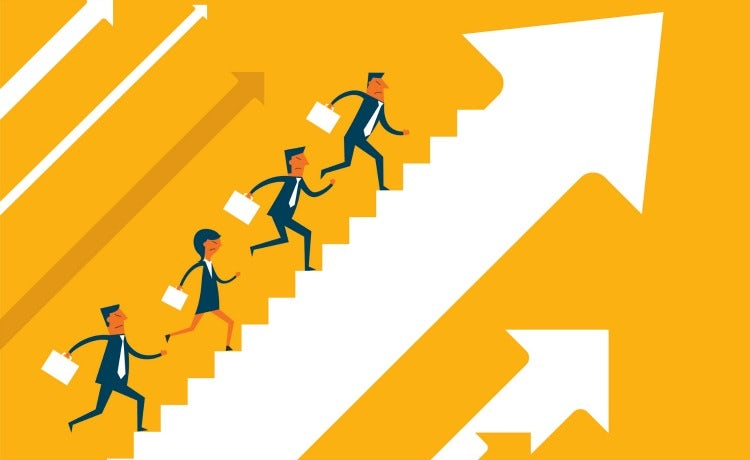 Staircase clipart job promotion. Hiring internally versus externally