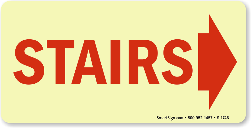 Stairway signs identification mydoorsign. Staircase clipart next step