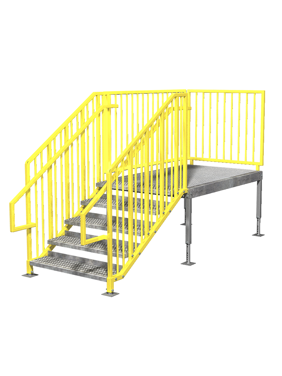 Portable stairs right entry. Staircase clipart one step at time