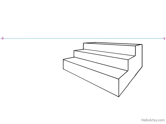 Staircase clipart one step at time. How to draw stairs