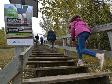 Staircase clipart one step at time. Fundraiser aims to climb