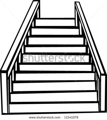 Stair free download best. Staircase clipart outline