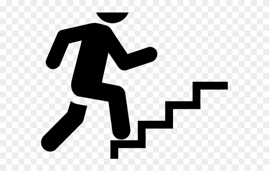 Staircase clipart outline. Stairs staris stair black