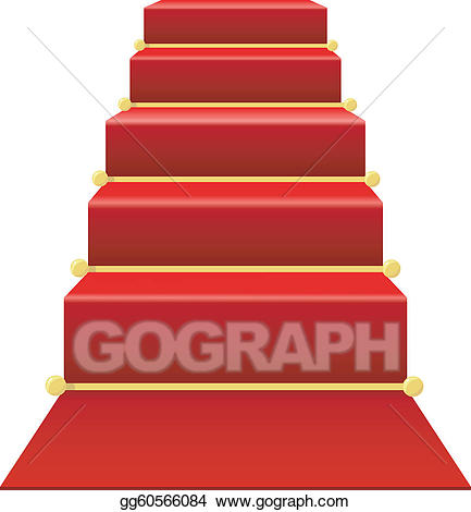 staircase clipart red carpet
