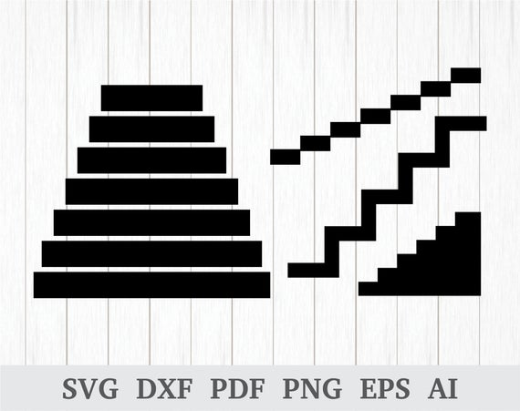 Staircase clipart silhouette. Stairs svg clip art