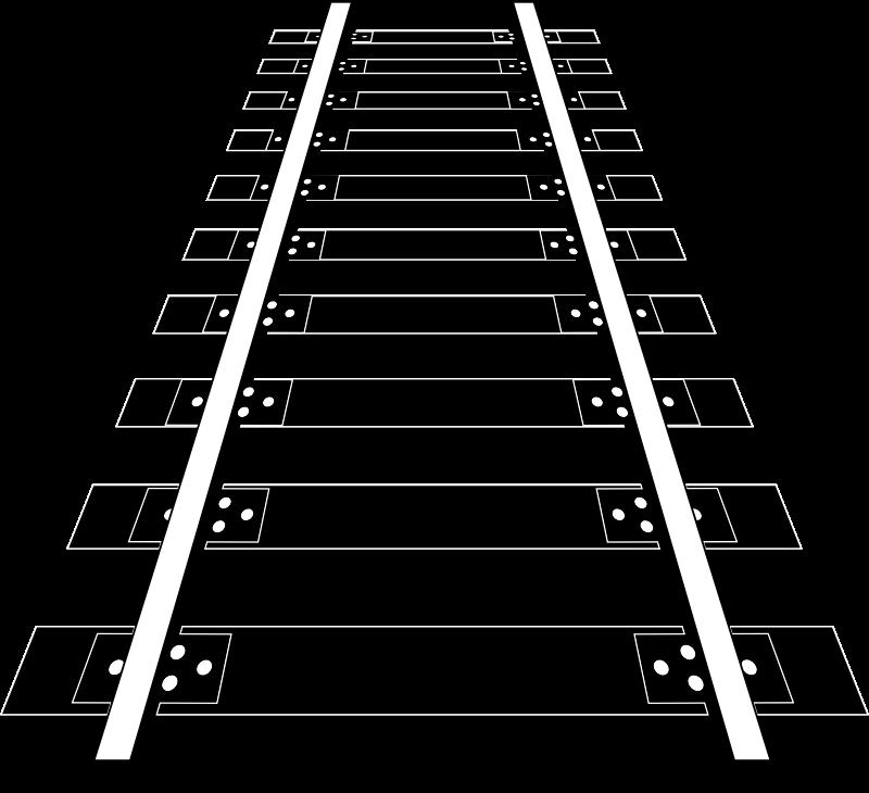 Railway tracks medium image. Staircase clipart stair rail