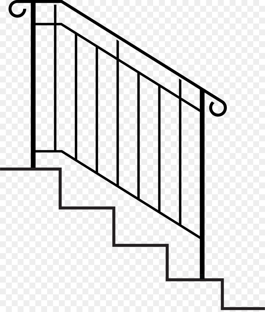 Wrought iron railing pictures. Staircase clipart stair rail