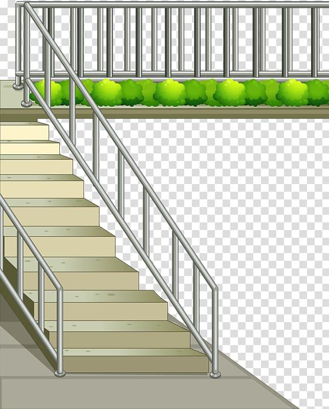 Stairs metal handrail skyway. Staircase clipart stair rail